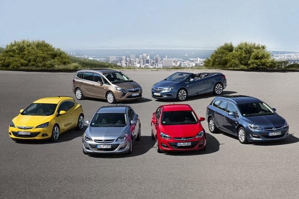Модельный ряд Opel